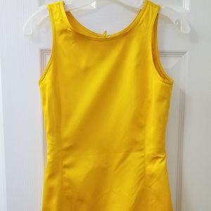 Vintage shift dress by Escada, bright yellow, 0 c